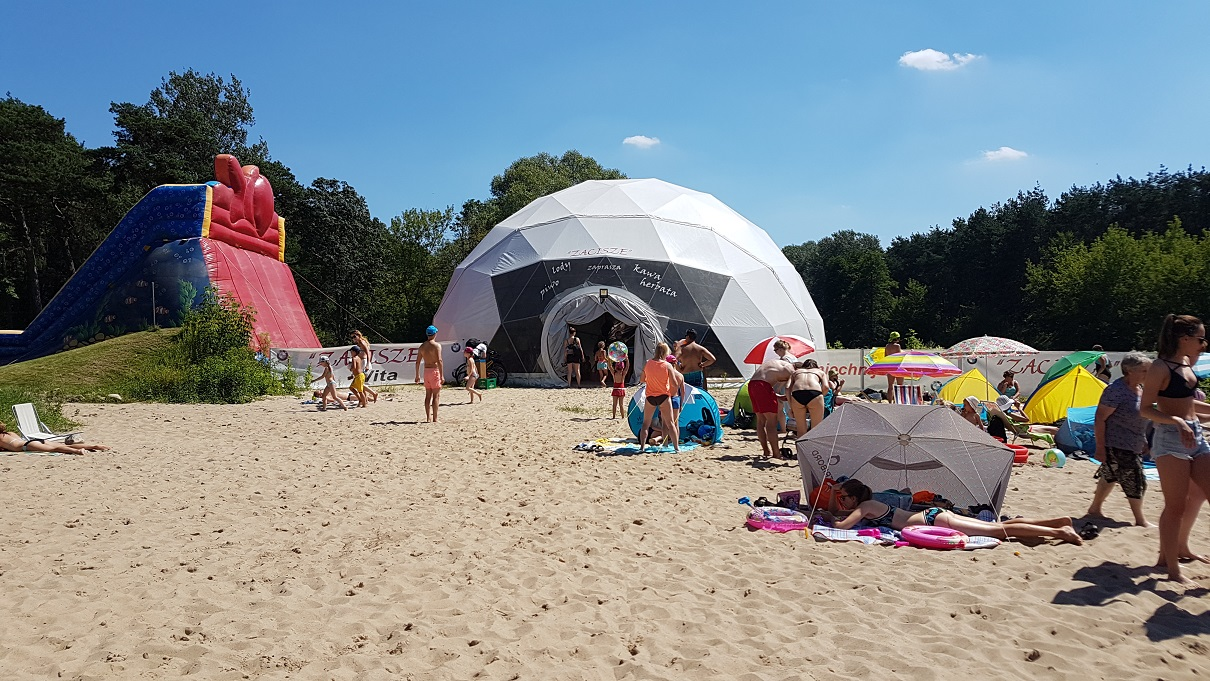 Kajaki, grill, plaża Pomiechówek pod Warszawą