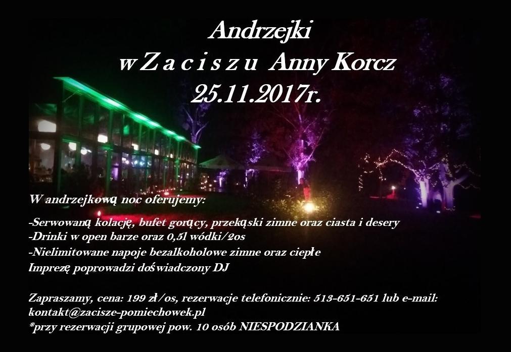 Andrzejki 2017 pod Warszawą w Zaciszu Anny Korcz Pomiechówek